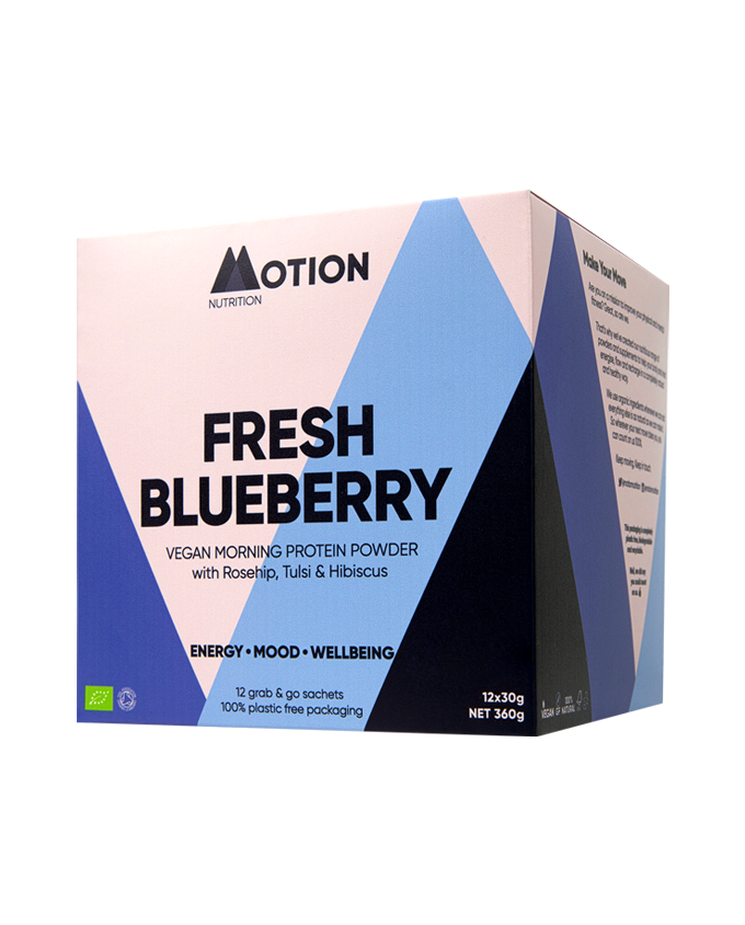 Fresh Blueberry Morning Shake – Organic Vegan Protein